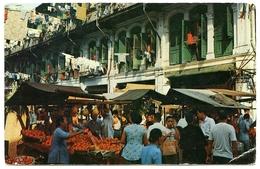SINGAPORE : CHINA TOWN SCENE / STAMPS : SINGAPORE MALAYA 1955 - Singapore