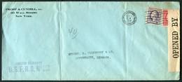 1918 USA Frost & Cundill, Wall Street, New York - Copenhagen Denmark. U.S.F.R.B. Foreign Exchange - United States