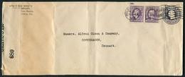 1918 USA Philadelphia Censor Cover - Copenhagen Denmark. - United States