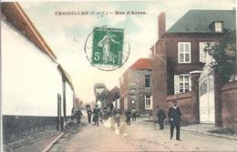 CPA Croisilles Rue D'Arras - Croisilles