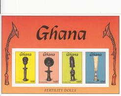 1994 Ghana Fertility Dolls Culture Miniature Sheet Of 4  MNH - Ghana (1957-...)
