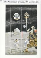 1999 Ghana Space Apollo 11 Complete Set Of 2  Sheets  MNH - Ghana (1957-...)