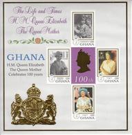 1999 Ghana Queen Mother Complete Set Of 2 Sheets  MNH - Ghana (1957-...)