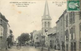 63 - LE BREUIL SUR COUZE - La Rue De L'Eglise En 1923 - France