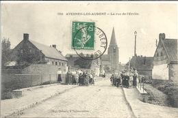 CPA Avesnes-les-Aubert La Rue De L'Erclin - Francia