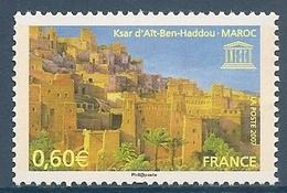 UNESCO FRANCE 2007 TIMBRE DE SERVICE 138 KSAR D AÏT BEN HADDOU MAROC - Mint/Hinged