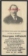 Faire-part De Décès 1933-Bailleul (59) Georges HEMAR-Conseiller Municipal -membre FNC-président Mutilés De Guerre - Décès