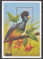 """2000 Ghana Turacao Bird Oiseaux Souvenir Sheet MNH  """"One Of My Favourite Birds!!"""" - Ghana (1957-...)"""