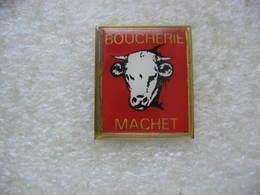 Pin's Portrait D'une Tete De Vache: Boucherie, Charcuterie, Traiteur MACHET Installée à ROTHAU (Dépt 67) - Animali