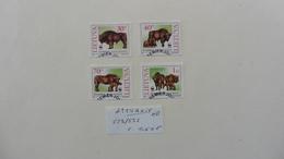 Europe > Lituanie :4 Timbres Oblitérés : Bisons - Litauen