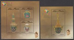 2013 Ghana  Thailand Masks Culture Complete Set Of 2 Souvenir Sheets MNH - Ghana (1957-...)