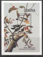 1985 Ghana  Audobon Birds Art Painting Complete Set Of 1 Souvenir Sheet MNH - Ghana (1957-...)