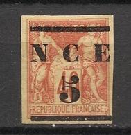 Nouvelle Calédonie - 1883-84 - N°Yv. 6 - 5 Sur 40c Rouge - Neuf * / MH VF - Nouvelle-Calédonie