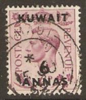 Kuwait  1948 SG  70 6a Surcharge Fine Used - Koweït