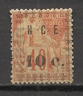 Nouvelle Calédonie - 1891-92 - N°Yv. 13 - 10c Sur 40c Orange - Neuf * / MH VF - Nieuw-Caledonië