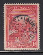 Tasmania 1899-1900 Used Sc 87 1p Mt Wellington SON CDS Launceston AU 20 1901 - Used Stamps