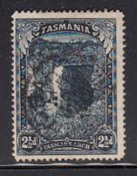 Tasmania 1899-1900 Used Sc 89 2 1/2p Tasman's Arch Re-entry At Top Perfin A Sideways - Oblitérés