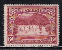 Tasmania 1899-1900 MH Sc 93 6p Dilston Falls Re-entry/hairlines Across Top - 1853-1912 Tasmania