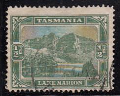 Tasmania 1902-1903 Used Sc 94 1/2p Lake Marion Variety Break In Line Above 'AR' - Oblitérés