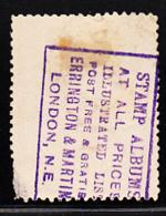 Tasmania 1902-1903 Used Sc 95 1p Mt Wellington Stamped Ad On Back - Oblitérés