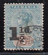 Tasmania 1902-1903 Used Sc 100 1 1/2p On 5p Victoria - Oblitérés