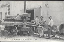 Meze - Le Pressoir - Vieux Metier Gros Plan - Cachet Hopital Auxilliaire Meze Rouge - Mèze
