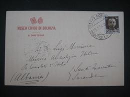 RARA 1934 MUSEO CIVICO BOLOGNA A LUIGI MORRICONE MISSIONE ARCHEOLOGICA ITALIANA REGIO CONSOLATO D'ITALIA IN ALBANIA - Bologna