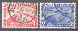 Allemagne: Yvert N° A 40°; Cote 150.00€, Seul Le 41 Dent Courte Offert - Luchtpost