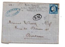 Lettre Avec Timbre 25 Centimes Cérès Et Oblitération - Voir état - Marcophilie (Lettres)
