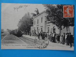 CLERMONT-L'HERAULT - La Gare (Hérault) L. Truel 11 Place Gambetta - Pézenas (Reproduction) 1911 - France
