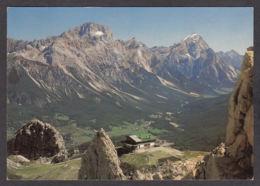 87251/ DOLOMITI, Gruppo Delle Tofane, Rifugio Pomedes Verso Il Sorapis E M. Antelao - Italie