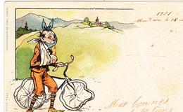 CPA Cyclisme Vélo Bicyclette Cycling Cycliste Chute Gamelle Pelle Bras En écharpe Dents Cassées Dental  (2 Scans) - Cyclisme