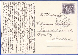 Postcard Marcofilia - To Lisbon / Rare Postmark - ABRUNHOSA A VELHA, 1961 - Marcofilia