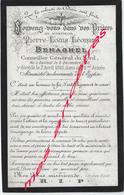 Faire-part De Décès 1893-Bailleul (59) Pierre BEHAGEL- Conseiller Général Du Nord Né En 1820 - Décès