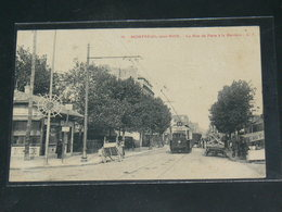 MONTREUIL SOUS BOIS     / 1910 /   VUE  RUE ANIMEE  + TRAMWAY  ....   / CIRC /  EDITION - Montreuil
