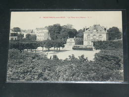 MONTREUIL SOUS BOIS     / 1910 /   VUE  RUE ANIMEE  + MAIRIE + TRAMWAY  ....   / CIRC /  EDITION - Montreuil