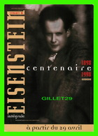 """AFFICHE DE FILM - """" L'INTÉGRALE """" - DE SERGUEI M. EISENSTEIN 1898-1998 - - Affiches Sur Carte"""