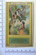 CHROMO  TRÈS  ANCIEN....MOTS ET DEVISES....FAIRE L'ECOLE BUISSONNIÈRE - Trade Cards