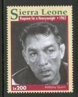 Sierra Leone 1993 Requiem For A Heavyweight - A. Quinn Sc 1610f Boxing Movies Stars Cinema Film Actor Sport MNH # 2775 - Cinema