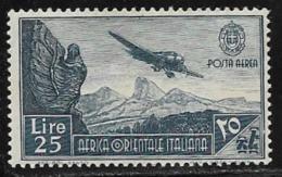 Italian East Africa Scott # C11 Mint Hinged Plane Over Mountains, 1938 - Italian Eastern Africa