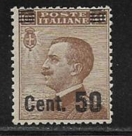 Italy Scott # 156 Mint Hinged Victor Emmanuel Lll Surcharged, 1923 - 1900-44 Vittorio Emanuele III