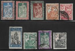 Italy Scott # 201-9 Used Philbert Short Set, 1928, CV$448.00 - 1900-44 Vittorio Emanuele III