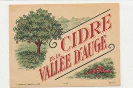 AN 445 / ETIQUETTE  CIDRE DE LA VALLEE D'AUGE - Labels