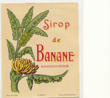 AN 451 / ETIQUETTE      SIROP DE BANANE SACCHARINE - Fruits & Vegetables