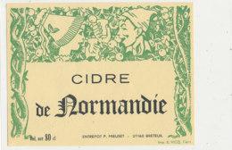 AN 465 / ETIQUETTE      CIDRE DE NORMANDIE  ENTREPOT F. MIEUSET   BRETEUIL - Etichette