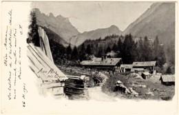 """CPA Précurseur Vaud Suisse """"Aux Pars Près GRYON"""" 1901. -Edit: A. Martin Photo Bex Opar Vevey - VD Vaud"""