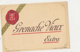 AN 475 / ETIQUETTE    GRENACHE VIEUX  EXTRA - Labels