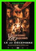 """AFFICHE DE FILM - """" DONJONS ET DRAGONS """" - Courtney Solomon, Sorti En 2000 - JEREMY IRONS, BRUCE PAYNE - Affiches Sur Carte"""