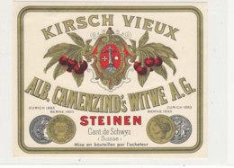 AN 492  / ETIQUETTE    KIRSCH VIEUX   ALB CAMENZIND'S WITWE A G.  STEINEN SUISSE - Labels