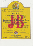 AN 495  / ETIQUETTE    SCOTCH WHISKIES  J  &  B - Whisky